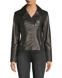 SOIA & KYO - Leather Moto Jacket - Lyst