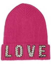 Saks Fifth Avenue - Cashmere Love Hat - Lyst