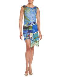 RACHEL Rachel Roy - Miami Printed Asymmetrical Cap-sleeve Dress - Lyst