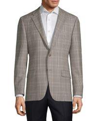 Hickey Freeman - Milburn Ii Wool Checkered Jacket - Lyst