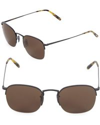 Oliver Peoples - 51mm Clubmaster Sunglasses - Lyst