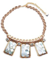 Nocturne - Crystal Statement Necklace - Lyst