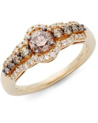 Le Vian - Chocolatier® Chocolate Diamonds® And Vanilla Diamonds® 14k Honey Goldtm Ring - Lyst