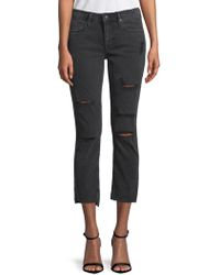 Vigoss - Jager Cropped Distressed Jeans - Lyst