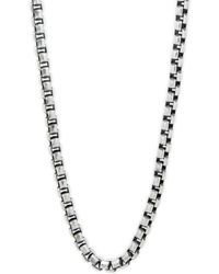 "Perepaix - Box Chain Stainless Steel Necklace/20"" - Lyst"
