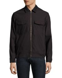 J.Lindeberg - Long Sleeve Zip-front Shirt - Lyst