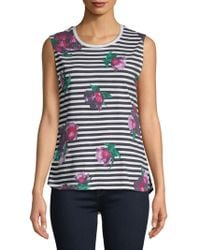 French Connection - Jude Floral Sleeveless Cotton Top - Lyst