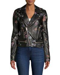IRO - Phedra Painted Leather Jacket - Lyst
