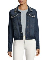 Saks Fifth Avenue - Cotton Faux Pearl Jacket - Lyst