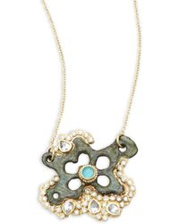 Armenta - Sueno White Diamond, Turquoise Sapphire, White Sapphire & 18k Goldplated Star Pendant Necklace - Lyst