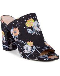 Avec Les Filles - Margaux Floral Block Heel Mules - Lyst