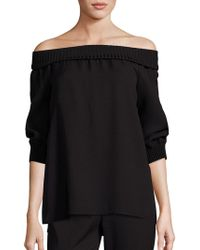 Lafayette 148 New York - Marlo Off-the-shoulder Blouse - Lyst