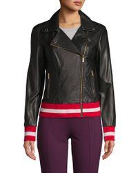 Calvin Klein - Faux Leather Moto Jacket - Lyst