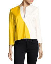 Akris - Split-v Colorblock Jacket - Lyst