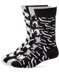 Happy Socks - Geometric Print Crew Socks Set - Lyst