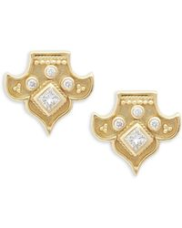 Amrapali - 18k Yellow Gold And Diamond Heritage Fleur Stud Earrings - Lyst