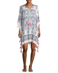 Saks Fifth Avenue - Printed Cotton Caftan - Lyst