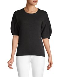Laundry by Shelli Segal - Elbow-length Puff-sleeve Sweater - Lyst