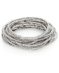 ABS By Allen Schwartz - Out Last Night Pavé Crystal Stretch Bracelets-set Of 20 - Lyst