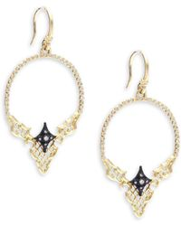 Armenta - Old World Diamond, 18k Yellow Gold & Sterling Silver Hoop Earrings- 2in - Lyst