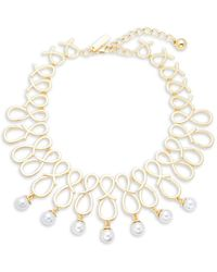 Saks Fifth Avenue - Faux Pearl Scroll Statement Necklace - Lyst