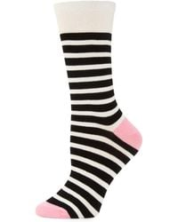 Kate Spade - Saturday Striped Socks - Lyst