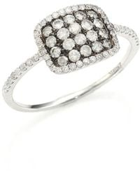 Meira T - Diamond & 14k White Gold Cushion Ring - Lyst