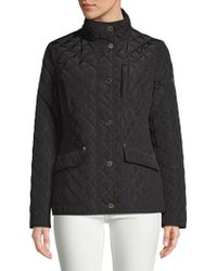 MICHAEL Michael Kors - Button-up Quilted Jacket - Lyst