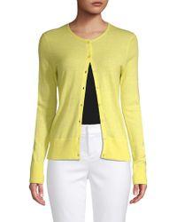 Saks Fifth Avenue Black - Buttoned Cashmere Cardigan - Lyst