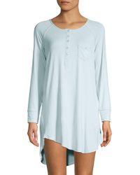 Juicy Couture Logo Sleep T-shirt Dress in Black - Lyst 9b80bcb37