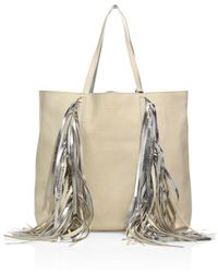 Elizabeth and James - Everyday Shopper Leather Fringed Tote - Lyst