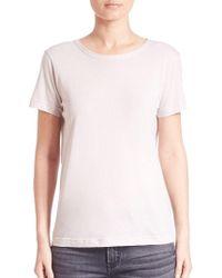 Helmut Lang - Solid Short Sleeve T-shirt - Lyst