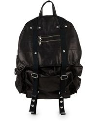 Balmain - Leather Satchel Backpack - Lyst