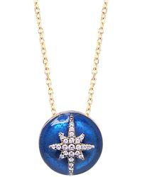 Gabi Rielle - Midnight Starburst 22k Gold Vermeil & White Crystal Round Pendant Necklace - Lyst