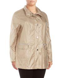 Basler - Plus Hooded Raincoat - Lyst