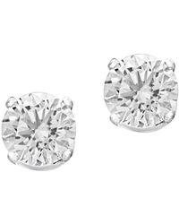 Effy - 14k White Gold & Diamond Round Stud Earrings - Lyst