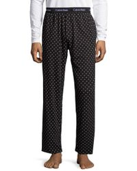 Calvin Klein - Printed Pyjama Trousers - Lyst
