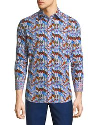 Robert Graham - Chaska Multi Print Cotton Shirt - Lyst