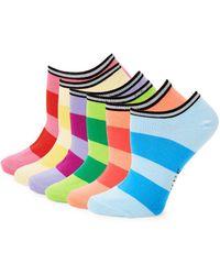 Hue - Six-pack Stripe Liner Socks - Lyst