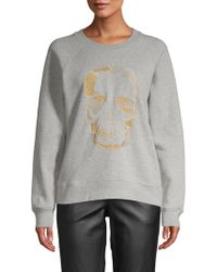 Zadig & Voltaire - Embroidered Skull Cotton Sweater - Lyst