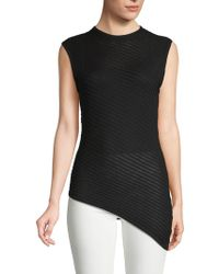 Cheap Monday - Ribbed Sleeveless Cotton Top - Lyst