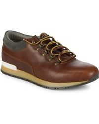 Canali - Leather Low-top Sneakers - Lyst