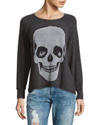 Lauren Moshi - Skull Raglan Sleeve Pullover - Lyst