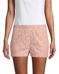 BCBGMAXAZRIA - Garden Floral Lace Shorts - Lyst