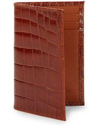 Abas - Slim Leather Bi-fold Card Case - Lyst