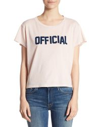 Mother - Crop Goodie Official Cotton Tee - Lyst