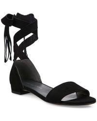 Stuart Weitzman - Corbata Suede Lace Sandals - Lyst