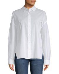 Vince - Classic Cotton Button-down Shirt - Lyst