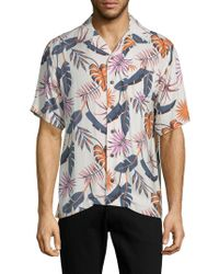 Standard Issue - Printed Button-down Shirt - Lyst