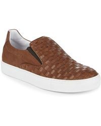 Bacco Bucci - Woven Leather Sneakers - Lyst